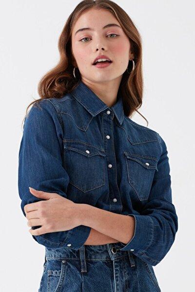 Kadın Isabel Koyu  Jean Gömlek 1257129906