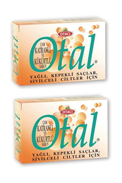 Otal Çam Katranlı Ve Kükürtlü Sabun 80 gr 2 Adet-yağlı Kepekli Saçlar Ve Sivilceli Ciltler Için