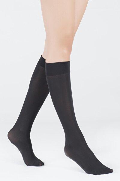 Kadın Siyah Dizaltı Opak 40 Denye Basic Çorap