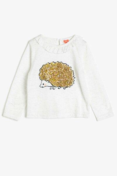 Ekru Kız Bebek T-Shirt
