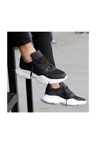 Siyah Deri Spor Ayakkabı