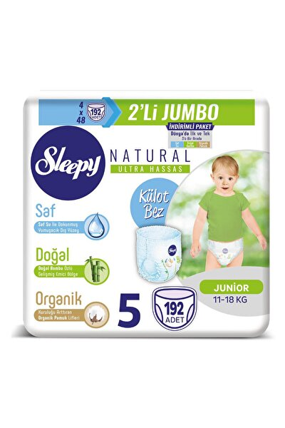 Natural Külot Bez 5 Beden Junior 4X2'li Jumbo 192 Adet