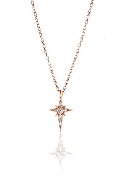 Kadın Gümüş Kutup Yıldızı Kolye SGTL9140