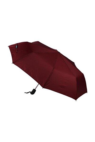 Şemsiye Bordo Otomatik Rüzgarda Kırılmayan