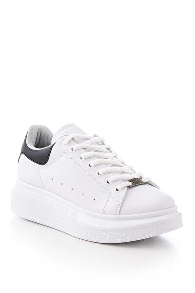 Beyaz Siyah Unisex Sneaker ALX-0