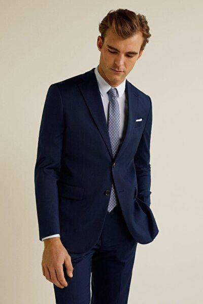 Erkek Lacivert Regular Kesimli Takım Blazer Ceket 43000497