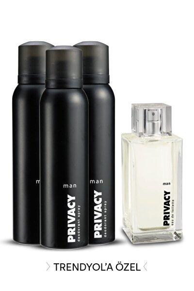 Edt Erkek Parfümü 100 ml + 3'Lü Deodorant 150 ml 507637-2