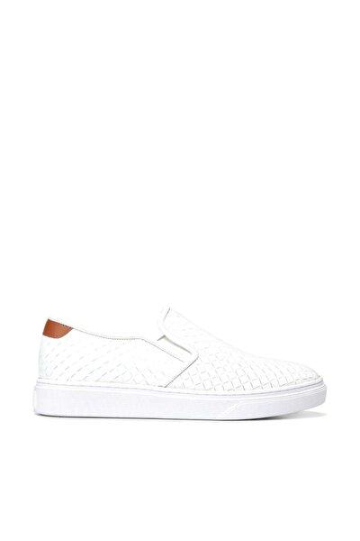 Hakiki Deri Beyaz Erkek Sneaker 02AYH138720A900