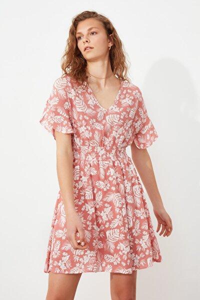 Çok Renkli Çiçek Desenli Elbise TWOSS20EL2883
