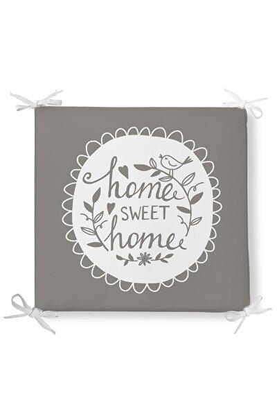 Home Sweet Home Dekorati Kare Sandalye Minderi 40x40cm ermuarlı