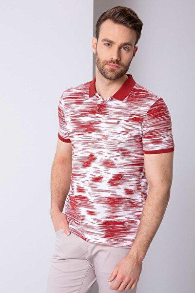 Erkek Kiremit Slim Fit T-Shirt