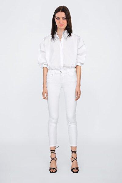Kadın Beyaz Cepli Jean 6451BGD19_005