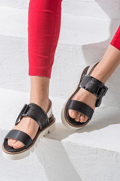 NATALES Siyah Kadın Sandalet