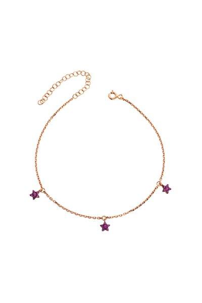 Üçlü Yıldız Gümüş Halhal - GMS842