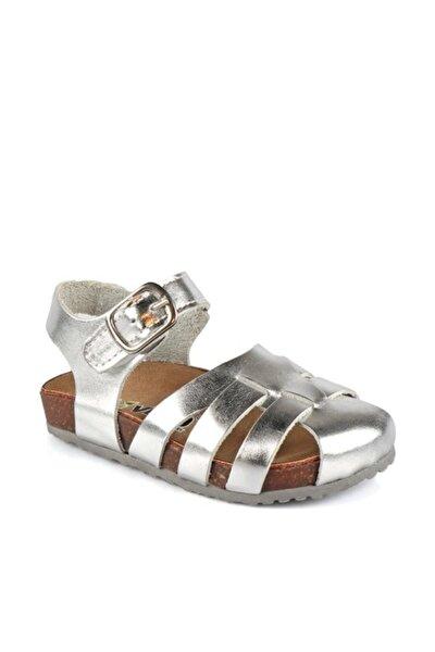 Gümüş Parlak Deri Sandalet