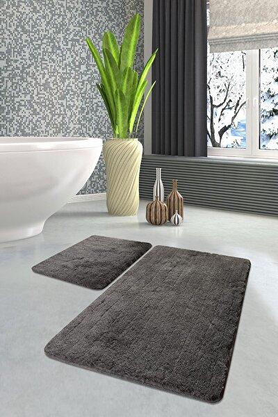 Havaı Füme 2 Lı Set Banyo Halısı Paspas Seti