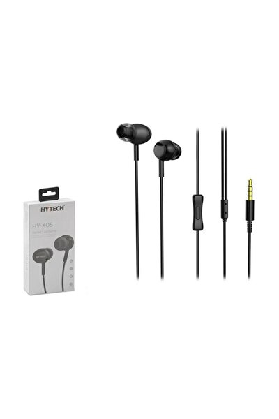 HY-X05 Mobil Telefon Uyumlu Siyah Kulak İçi Mikrofonlu Kulaklık