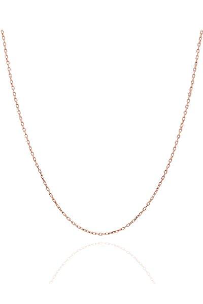 Kadın Hayalet Modeli 45 CM Gümüş Rose Kaplama Zincir İZLASLVR00595