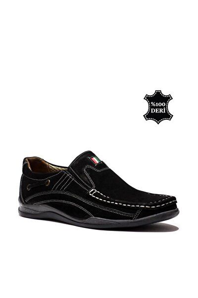 Hakiki Deri Siyah Erkek Casual Ayakkabı PRA-148166-014648