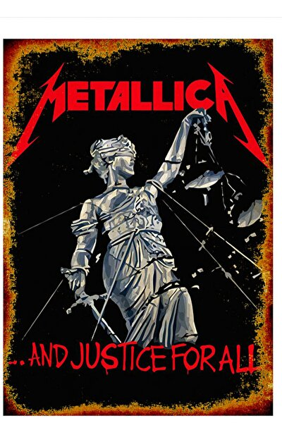 Ahşap Tablo Metallica And Justice For All Posteri 50X70Cm