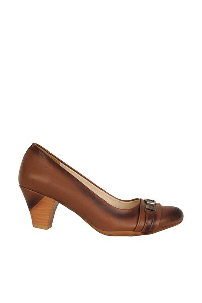 Taba Kadın Topuklu Ayakkabı