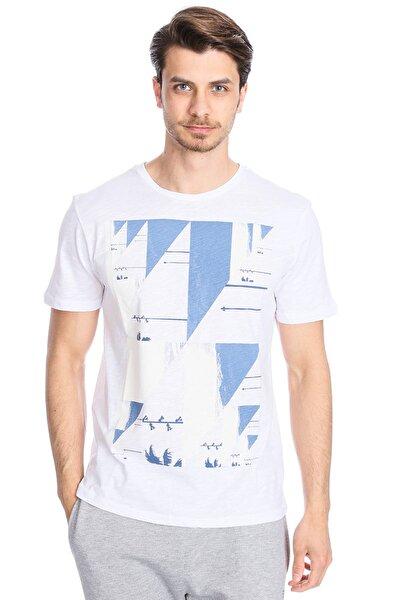Flageo Erkek Beyaz Koşu Tişört 710514-00w