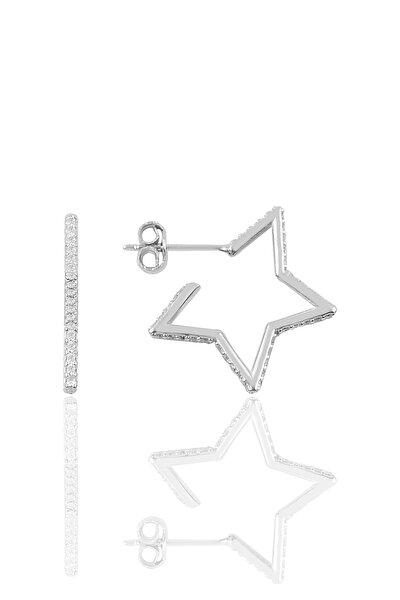 Gümüş Star Küpe SGTL9829