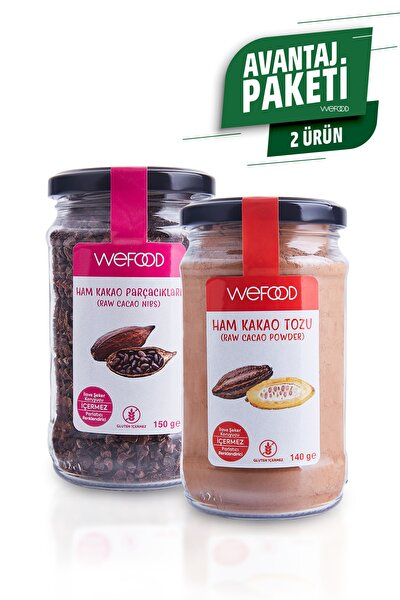Ham Kakao Tozu 140 gr + Ham Kakao Parçacıkları 150 gr