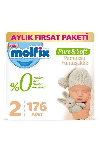 Pure&Soft Bebek Bezi 2 Beden Mini Aylık Fırsat Paketi 176 Adet
