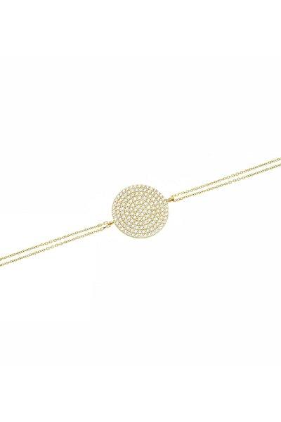 Kadın Altın Taşlı Bileklik CM0256