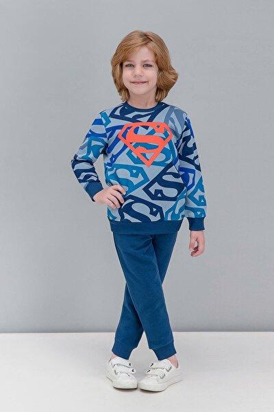 Lisanslı Mavi Erkek Çocuk Eşofman Takımı