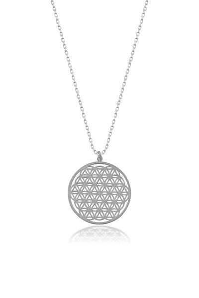 Kadın Gümüş Yaşam Çiçeği Kolye CG144