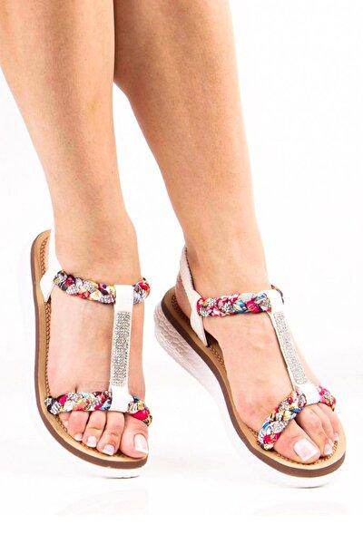 Beyaz Kadın Sandalet 292-19Y125 R
