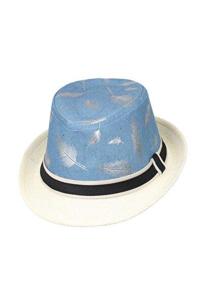 6-12 Yas Cocuk Kız Hasır Sapka Krem Şapka