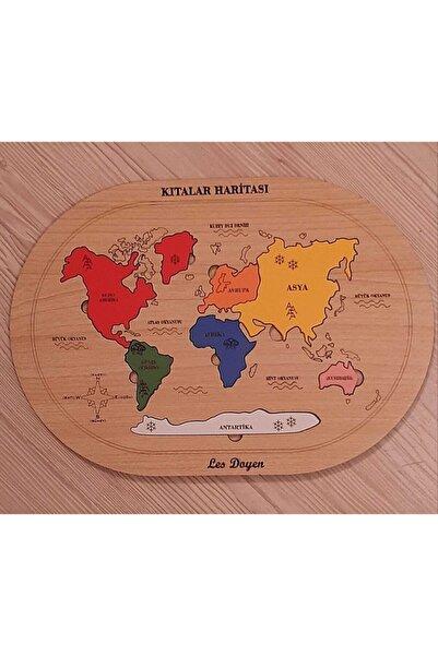 Ahşap Kıtalar Haritası Montessorie Bul - Tak Puzzle