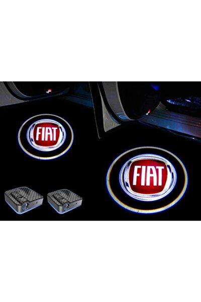 Fiat Araçlar Için Pilli Yapıştırmalı Kapı Altı Led Logo