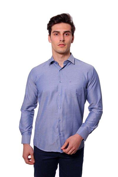 Uzun Kollu Erkek Gömlek Koyu Mavi 1912020