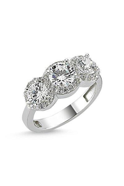 Kadın 3 Taş Gümüş Yüzük - Starlight Diamond SY0002