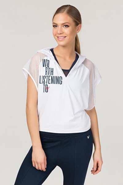 Beyaz Kadın Antrenman T-Shirt FS-1121
