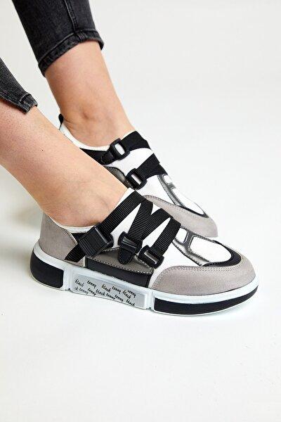 Unisex Gri Siyah  Spor Ayakkabı Tb291-1