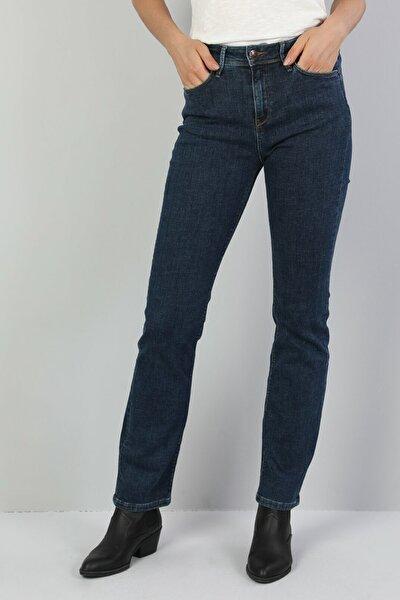 KADIN 792 Mıla Orta Bel Düz Paça Regular Fit Mavi Kadın Jean Pantolon CL1047042