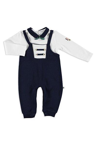 Bebek Armalı İnterlok Polo Yaka Papyonlu Patiksiz Tulum