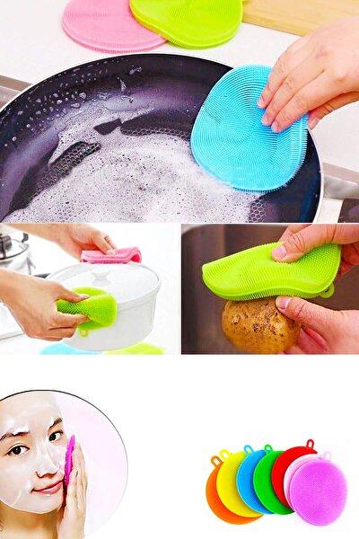 Silikon Banyo Mutfak Temizleme Pedi Fırça