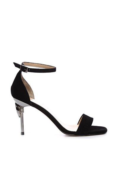 Siyah Kadın Vegan Abiye Ayakkabı 22 6086 BN AYK Y19
