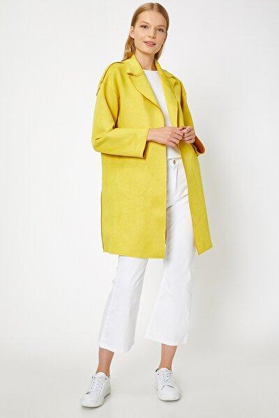 Kadın Sarı Cep Detaylı Trençkot 0KAK06561EW