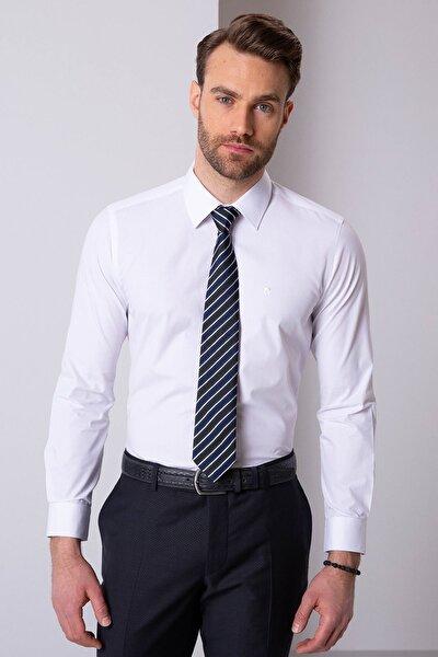 Erkek Beyaz Slim Fit Basic Gömlek G021GL004.000.857702