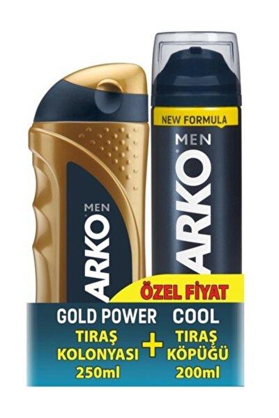 Tıraş Kolonyası Gold 250 Ml & Tıraş Köpüğü Cool 200 Ml