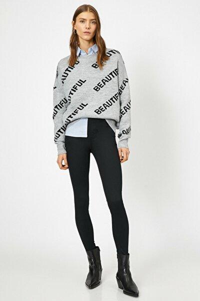 Kadın Siyah Pantolon 0YAK43558MW