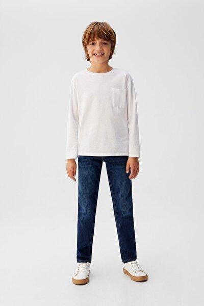 Erkek Çocuk Mavi Standart Kesim Jean 67060581