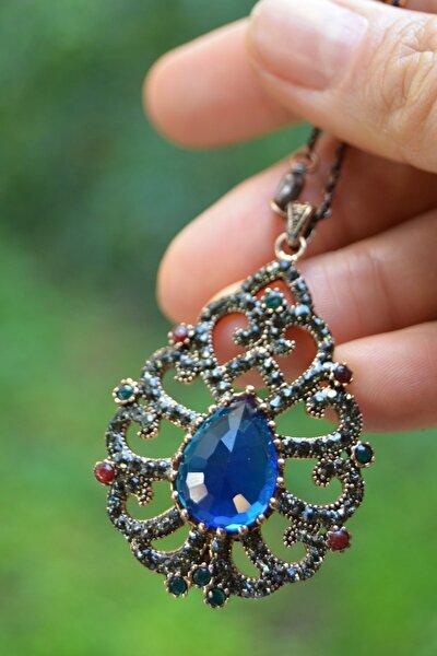 Jewellery Safir Taşlı Otantik Bayan Kolye